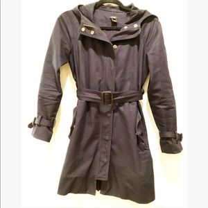 J. Crew Navy Hoodie Coat 🧥 with gold snap buttons